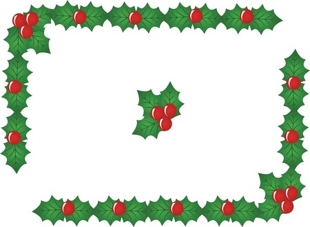 carol: red x-mas berry border,vector