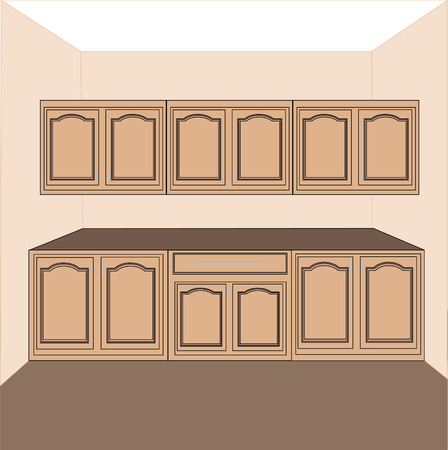 kitchen-laundry cabinets,vector