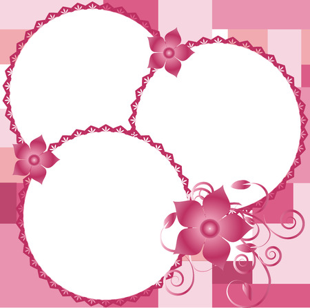 Beautiful border for pictures with flowers,vector Ilustração