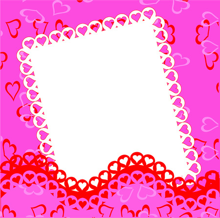 Valentines day border for picture,vector