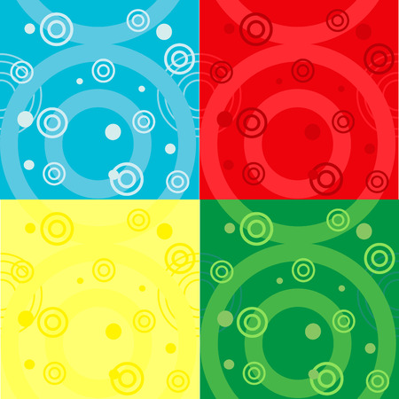 textiles: seamless vector pattern in 4 color variation Illustration