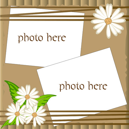 Vector scrapbooking,pictures frame with camomile