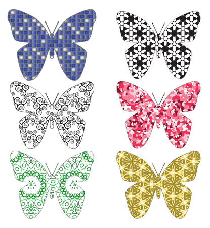 butterfly made by pattern,vector Stock Vector - 2568045