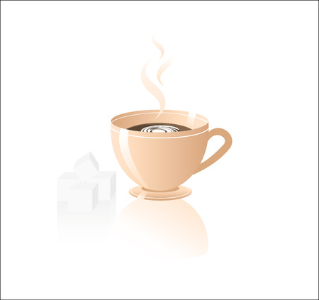 coffees: Cup of coffee. Vector illustration.
