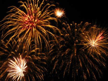 golden: Golden fireworks