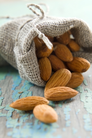 dried food: Almonds Stock Photo