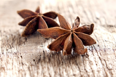 Stars anise on the wood Imagens - 14686304