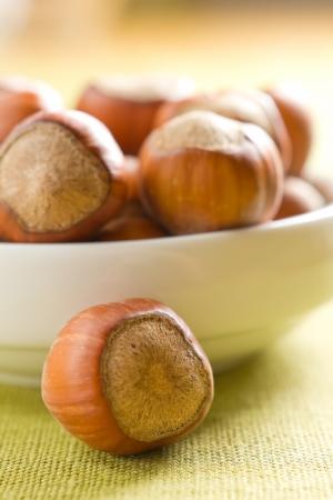 unbroken: Hazelnuts  filbert  Stock Photo