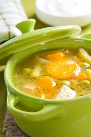 soup bowl: Vegetable soup