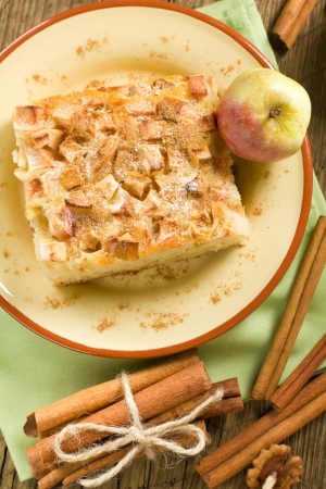 Homemade apple pie with cinnamon photo