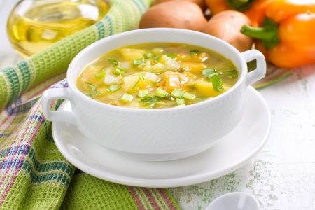 green cabbage: Vegetable soup