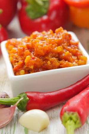dips: Homemade red hot chilli sauce