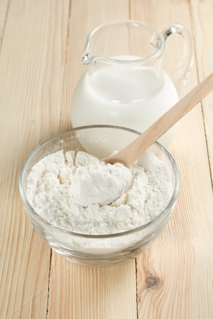 Milk and flour photo