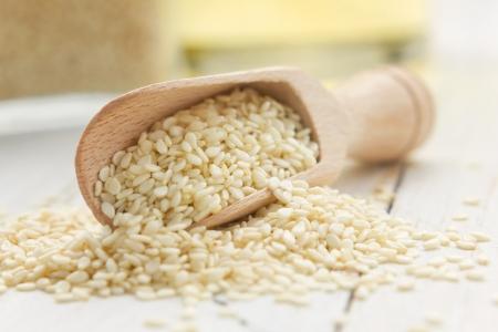 sezam: Nasiona sezamu i olej Zdjęcie Seryjne