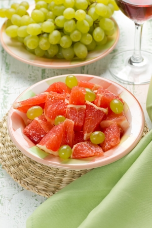 Salad with grapefruit and grapes Stock Photo - 15884344