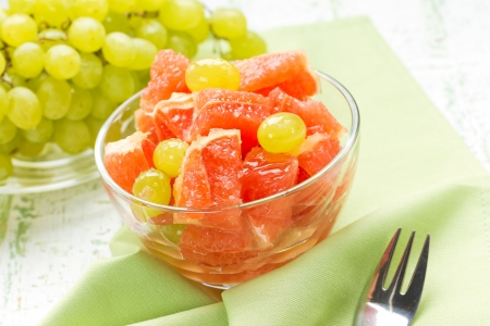 Grapefruit and grapes photo