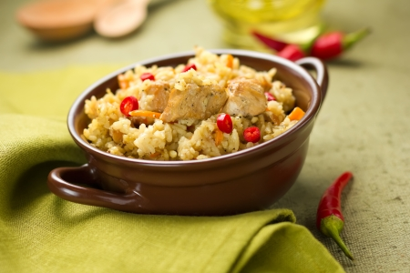 rustic food: Pilaf Stock Photo