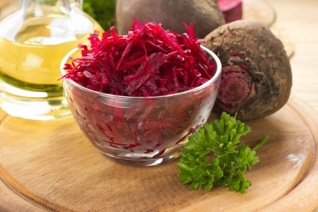 grated: Raw grated beet
