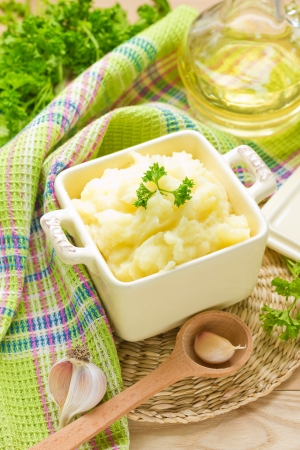 pureed: Potato Stock Photo