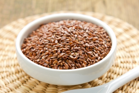 flax seed oil: Flax seeds Stock Photo