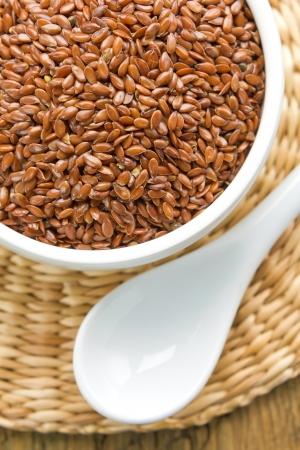 Flax seeds photo