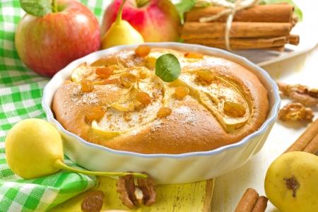 apple pie: Homemade apple pie with cinnamon Stock Photo