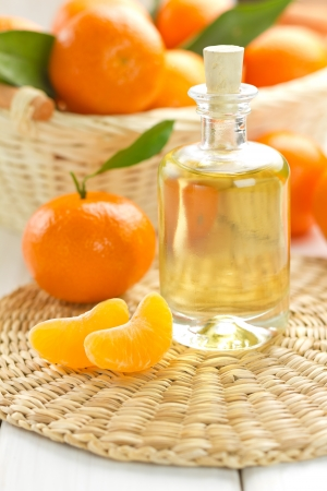 Tangerine essential oil photo
