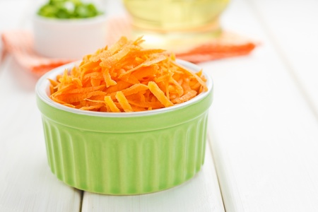 grated: Grated carrot Stock Photo