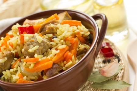 chiken: Pilaf Stock Photo