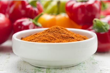 curry powder: Paprika Stock Photo