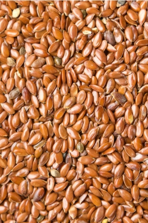 Flax seeds background Stock Photo - 17194304