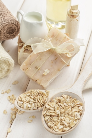 Oatmeal soap photo