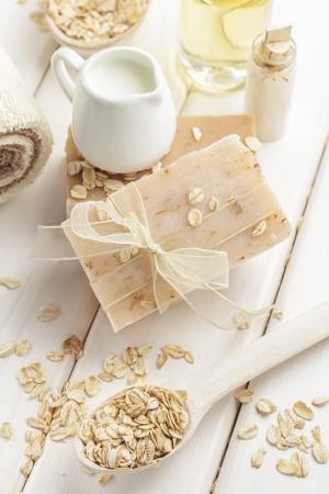 Oatmeal soap photo