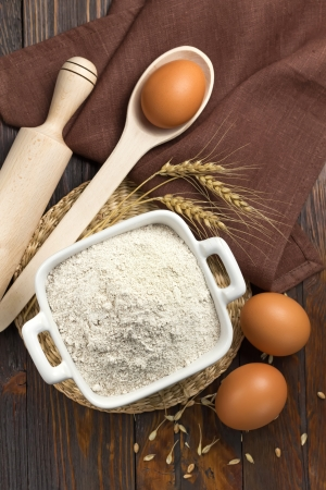 Flour and eggs photo