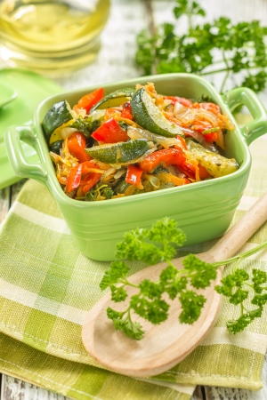 french cuisine: Vegetable stew Stock Photo