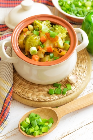 stew: Vegetable stew Stock Photo