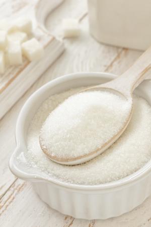 baking ingredients: Sugar Stock Photo