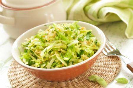 leeks: Cabbage salad