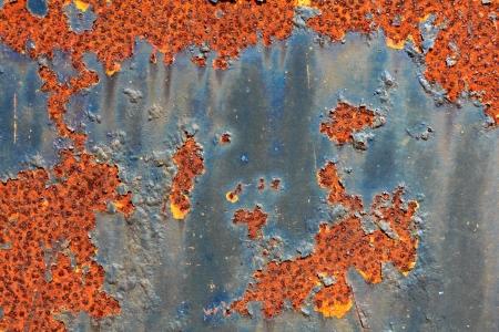 worn structure: Rust background