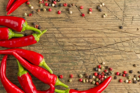 spicy chilli: Red hot chilli peppers