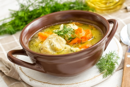 chicken soup: Soup