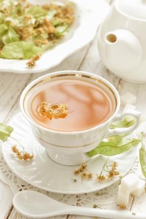 linden tea: Tea Stock Photo