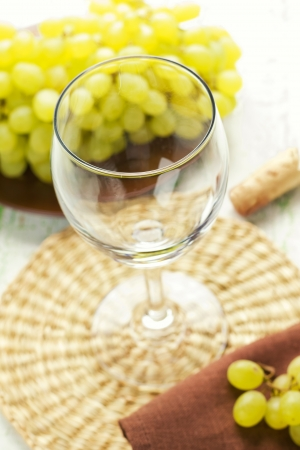 A glass of wine photo