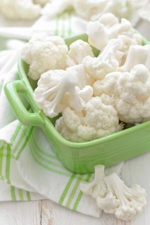 head of cauliflower: Cauliflower Stock Photo