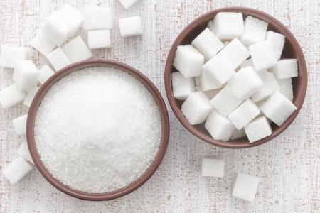 crystal bowl: Sugar Stock Photo