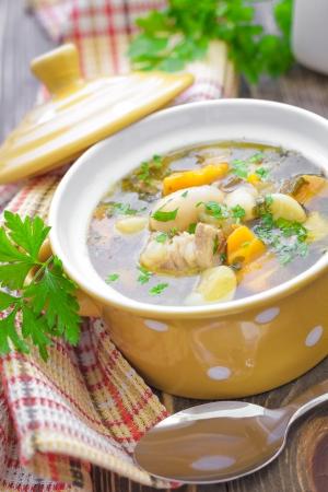 soup pot: Bean soup