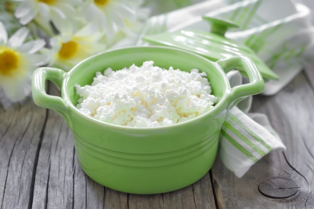 plate: Cottage cheese