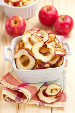 dried food: Dried apples