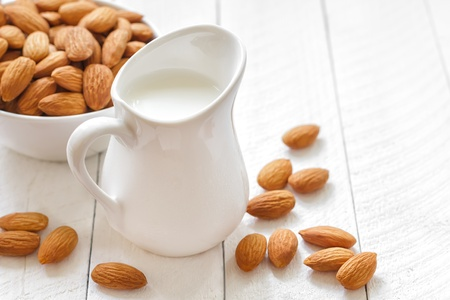 milk jugs: Almond milk