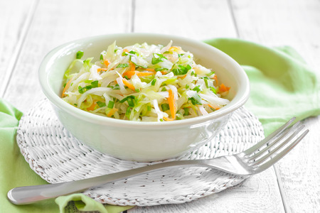 キャベツのサラダ 写真素材